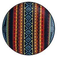 Cuzco decorative plate, 'Happy World' - Cuzco Ceramic Decorative Wall Plate