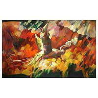 'Loving Nature III' (2008) - Expressionist Painting (2008)
