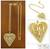 Gold plated heart necklace, 'Filigree Heart' - Handcrafted Heart Shaped Gold Plated Filigree Necklace (image 2) thumbail