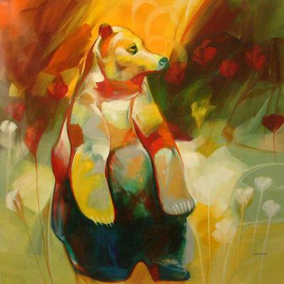 Brave Bear Original Impressionist Painting (2008)