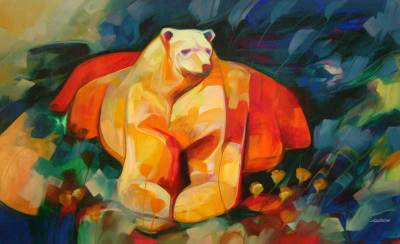 Strong Bear Original Painting Peru Art