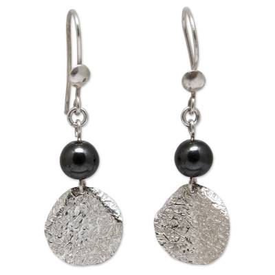 Fair Trade Sterling Silver and Hematite Earrings