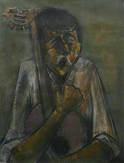 'Archaic Melody' - Original Oil Painting Peru Fine Art