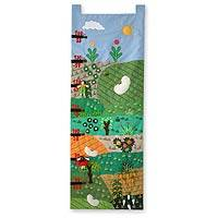 Applique wall hanging, 'Measure Me Farm' - Applique wall hanging