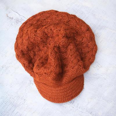 100% alpaca hat, 'Cinnamon Cap' - 100% alpaca hat