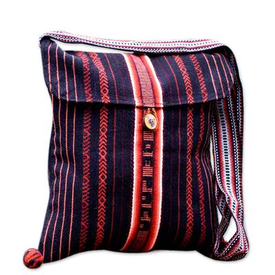 Shoulder bag, 'Inca Paths' - Striped Shoulder Bag Handmade in Peru