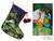 Applique Christmas stocking, 'Visit of the Magi' - Peruvian Religious Applique Christmas Tree Stocking (image 2) thumbail