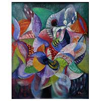 'Orchid Fragrances' (2008) - Floral Abstract Painting (2008)