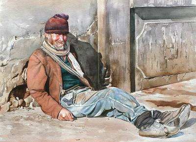'Happy Porter' (2008) - Realist Portrait Painting