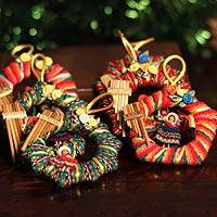 Ornaments, 'Musical Wreath' (set of 6)