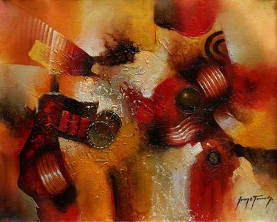 'Integration' - Abstract Original Oil Painting Peru Fine Art