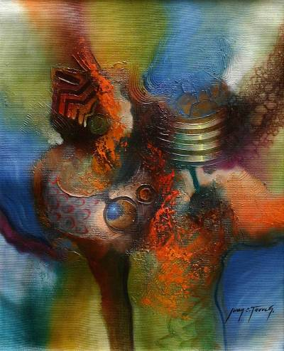 'Complementary' - Abstract Original Oil Painting