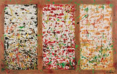 'Three Windows' - Peru Fine Art Original Oil Painting