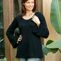 Alpaca blend sweater, 'Black Charisma'