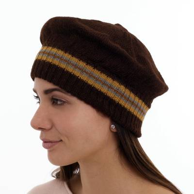 100% alpaca hat, 'Sunflower' - 100% alpaca hat