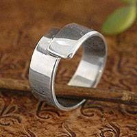 Sterling silver ring, 'Take My Hand' - Women's Sterling Silver Modern Wrap Ring from Peru