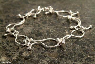 Artisan Jewelry Fine Silver Link Bracelet