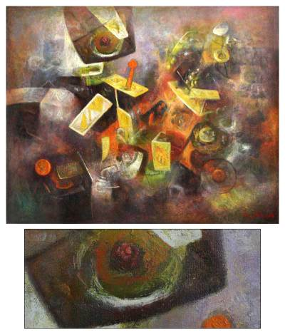 'Evoking the Past' (2007) - Peru Fine Art Oil Painting