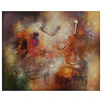 'Strange Symphony' (2008) - Abstract Original Painting (2008)