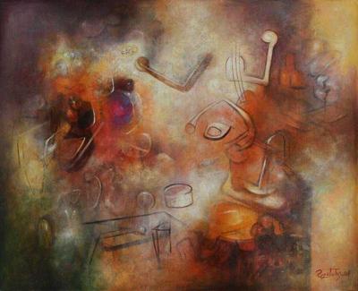 'Strange Symphony' (2008) - Abstract Original Painting (2008)