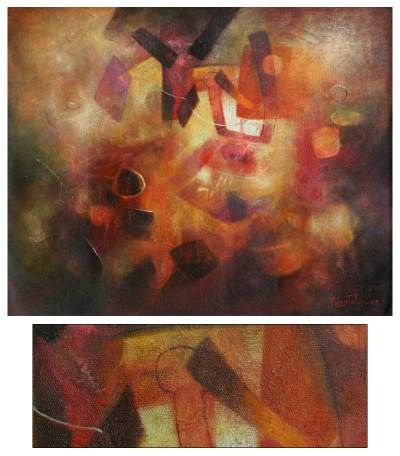 'Fragmented Spaces' (2008) - Abstract Original Painting (2008)