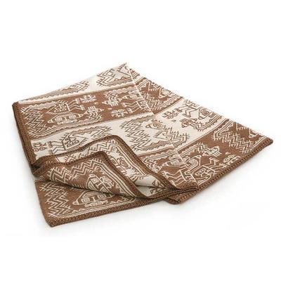 Alpaca blend throw blanket, 'Paracas Coast' - Fair Trade Alpaca Wool Patterned Blanket and Throw