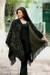Reversible alpaca blend ruana cloak, 'Spring Silhouette' - Collectible Alpaca Wool Reversible Wrap Ruana thumbail