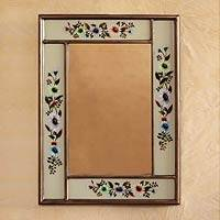 Mirror, 'Modern Daisy' - Andean Handcrafted Floral Mirror