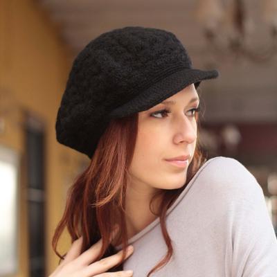 100% alpaca hat, 'Licorice Cap' - Wool Pure Alpaca Wool Hat