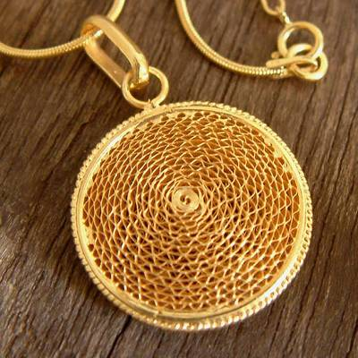 Gold plated filigree necklace, Coricancha