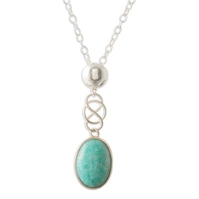 Sterling Silver and Amazonite Necklace