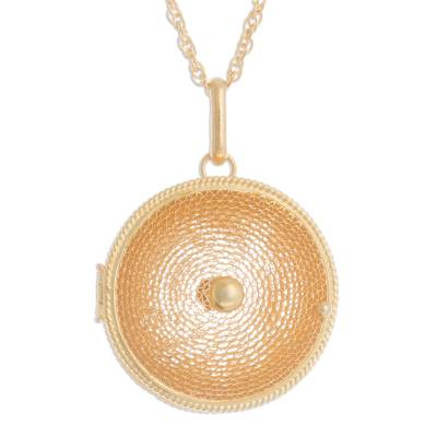 Unique Gold Plated Locket Necklace