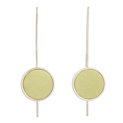 Serpentine drop earrings, 'U Turn' - Serpentine drop earrings