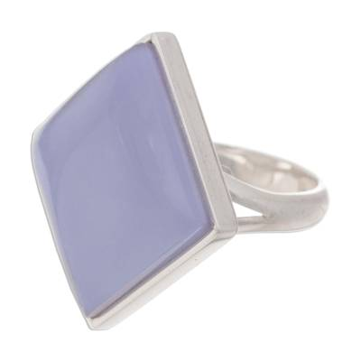 Chalcedony cocktail ring