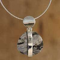 Marble pendant necklace,