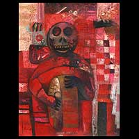 'Death' - Expressionist Oil Painting