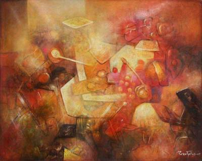 'Evoking the Ancestors' (2009) - Abstract Oil Painting