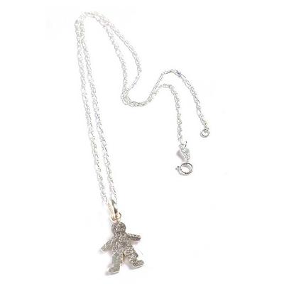 Sterling silver pendant necklace, 'My Little Boy' - Sterling silver pendant necklace