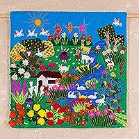 Applique wall hanging, 'A Spring Day'