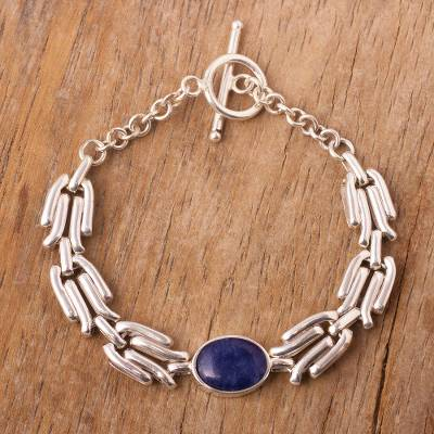 Sodalite pendant bracelet, On Wings