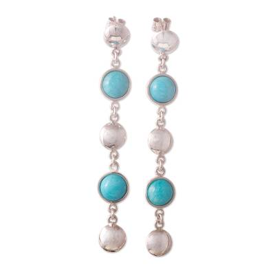 Amazonite dangle earrings