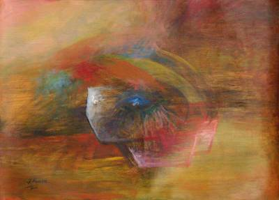'Clinical Eye' - Abstract Oil Painting