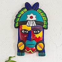 Ceramic mask, 'Storm Shaman' - Ceramic mask