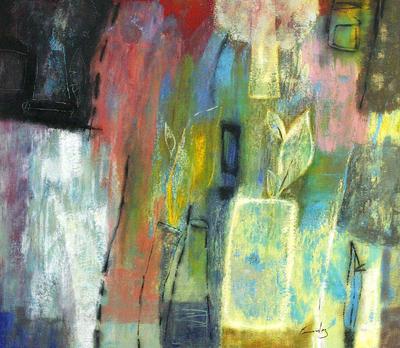 'Rebirth' (2009) - Peruvian Abstract Painting
