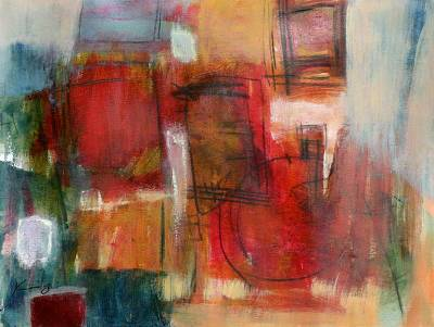 'From Above' - Abstract Oil Painting