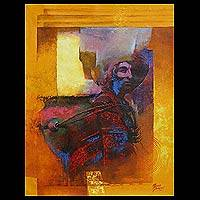 'Carrying Water' (2009) - Expressionist Oil Painting