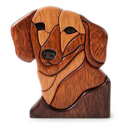 Ishpingo Wood Dog Handmade Statuette