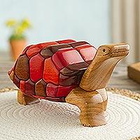 Ishpingo statuette, 'Tortoise Voyage' - Unique Ishpingo Statuette