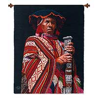 Wool tapestry, 'The Mayor' - Wool tapestry