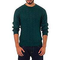 Alpaca men's sweater, 'Seafarer' - Men's Hand Crafted Alpaca Wool Pullover Sweater